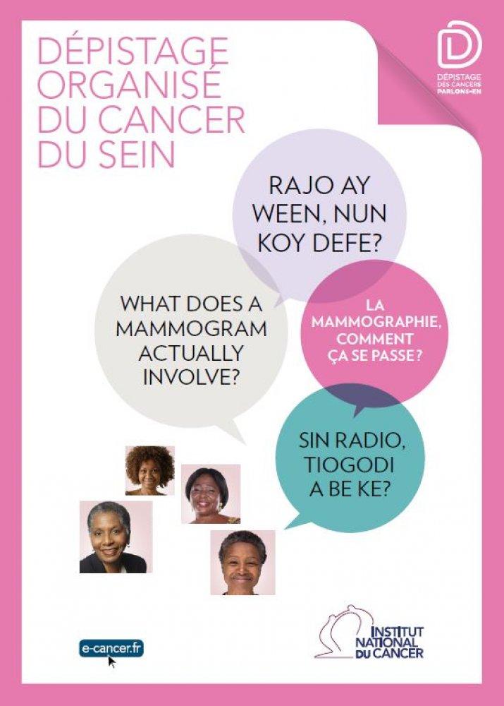 d pliant d 39 information en langues d 39 afrique de l 39 ouest sur le d pistage organis du cancer du. Black Bedroom Furniture Sets. Home Design Ideas